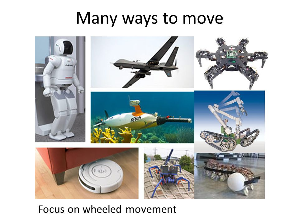 Many ways to move Focus on wheeled movement