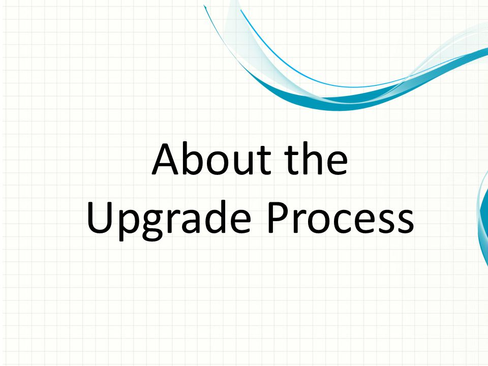 Using the Migration Tool (Cont) 4.Details for using the tool are on pg 38 of the Upgrade Guide.