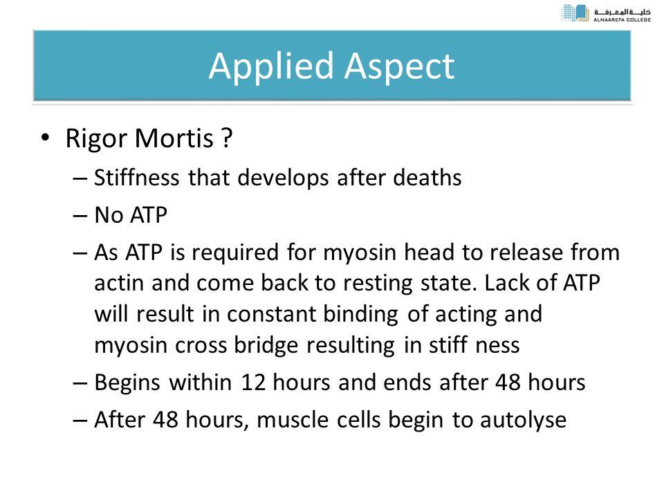 Applied Aspect Rigor Mortis .