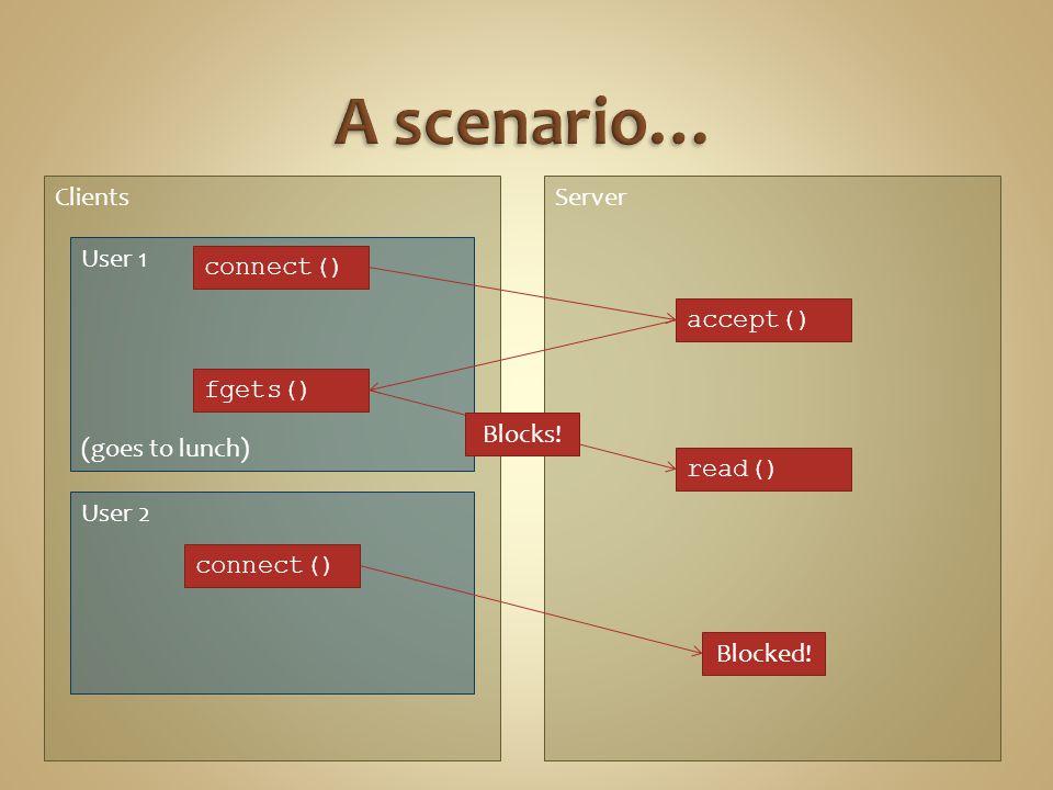 struct sockaddr_in saddr, caddr; int sockfd, clen, isock; unsigned short port = 80; if (0 > (sockfd=socket(AF_INET, SOCK_STREAM, 0))) printf( Error creating socket\n ); memset(&saddr, \0 , sizeof(saddr)); saddr.sin_family = AF_INET; saddr.sin_addr.s_addr = htonl(INADDR_ANY); saddr.sin_port = htons(port); if (0 > (bind(sockfd, (struct sockaddr *) &saddr, sizeof(saddr))) printf( Error binding\n ); if (listen(sockfd, 5) < 0) { // listen for incoming connections printf( Error listening\n ); clen = sizeof(caddr) struct sockaddr_in saddr, caddr; int sockfd, clen, isock; unsigned short port = 80; if (0 > (sockfd=socket(AF_INET, SOCK_STREAM, 0))) printf( Error creating socket\n ); memset(&saddr, \0 , sizeof(saddr)); saddr.sin_family = AF_INET; saddr.sin_addr.s_addr = htonl(INADDR_ANY); saddr.sin_port = htons(port); if (0 > (bind(sockfd, (struct sockaddr *) &saddr, sizeof(saddr))) printf( Error binding\n ); if (listen(sockfd, 5) < 0) { // listen for incoming connections printf( Error listening\n ); clen = sizeof(caddr)