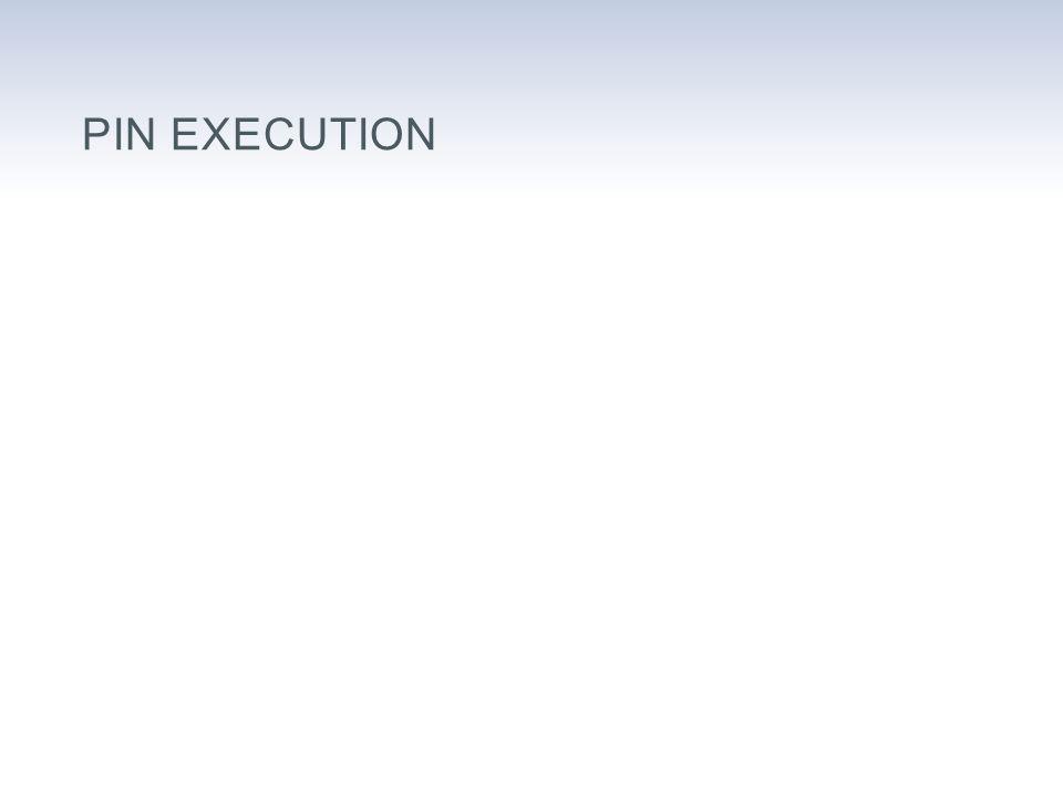 PIN EXECUTION