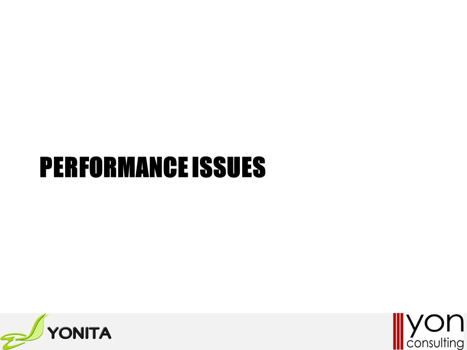 PERFORMANCE ISSUES