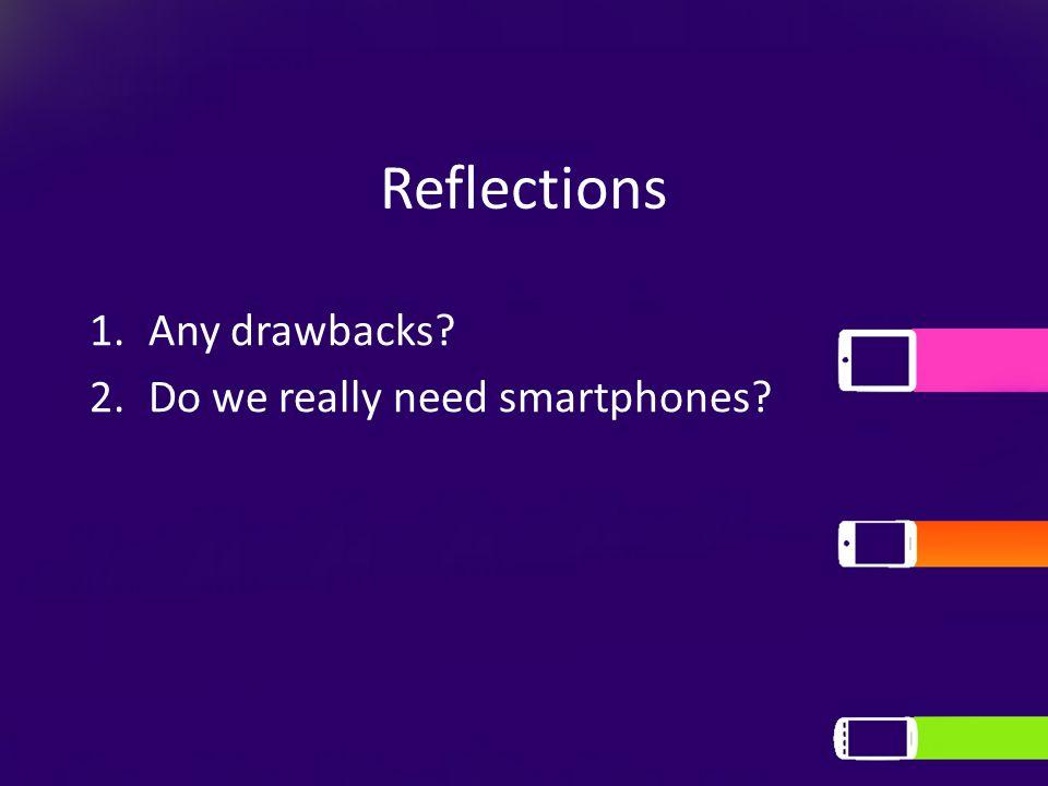 Reflections 1.Any drawbacks? 2.Do we really need smartphones?