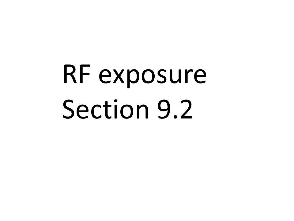 RF exposure Section 9.2