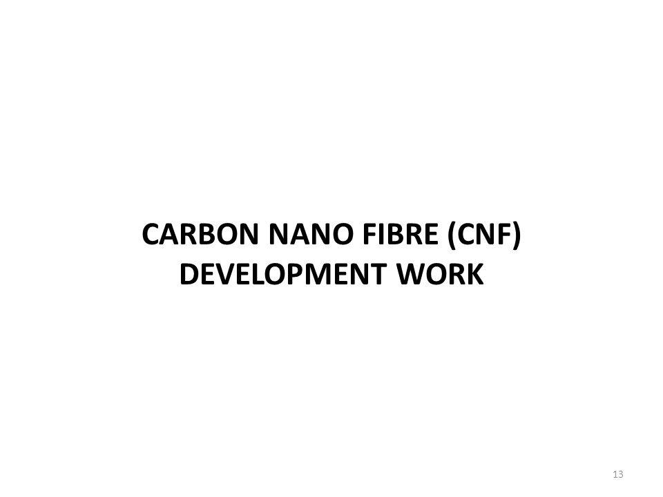 CARBON NANO FIBRE (CNF) DEVELOPMENT WORK 13