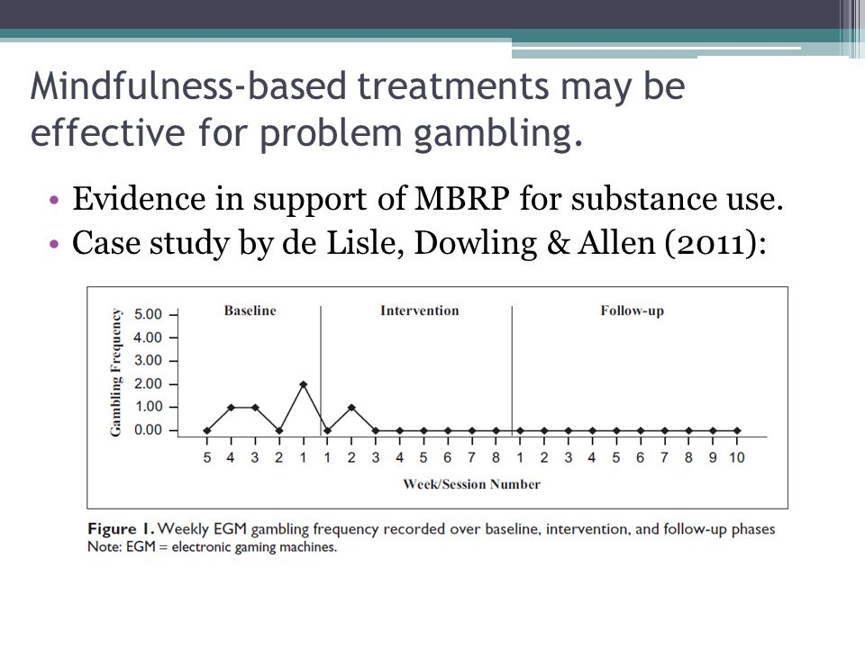 Mindfulness-based treatments may be effective for problem gambling.