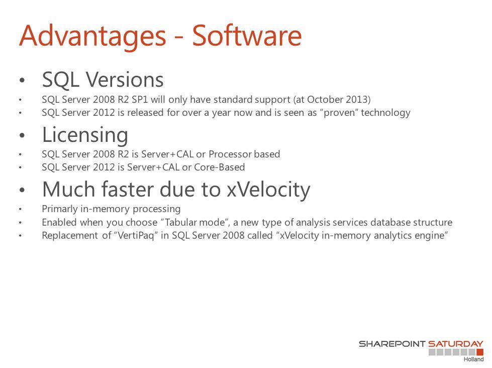 Advantages - Software