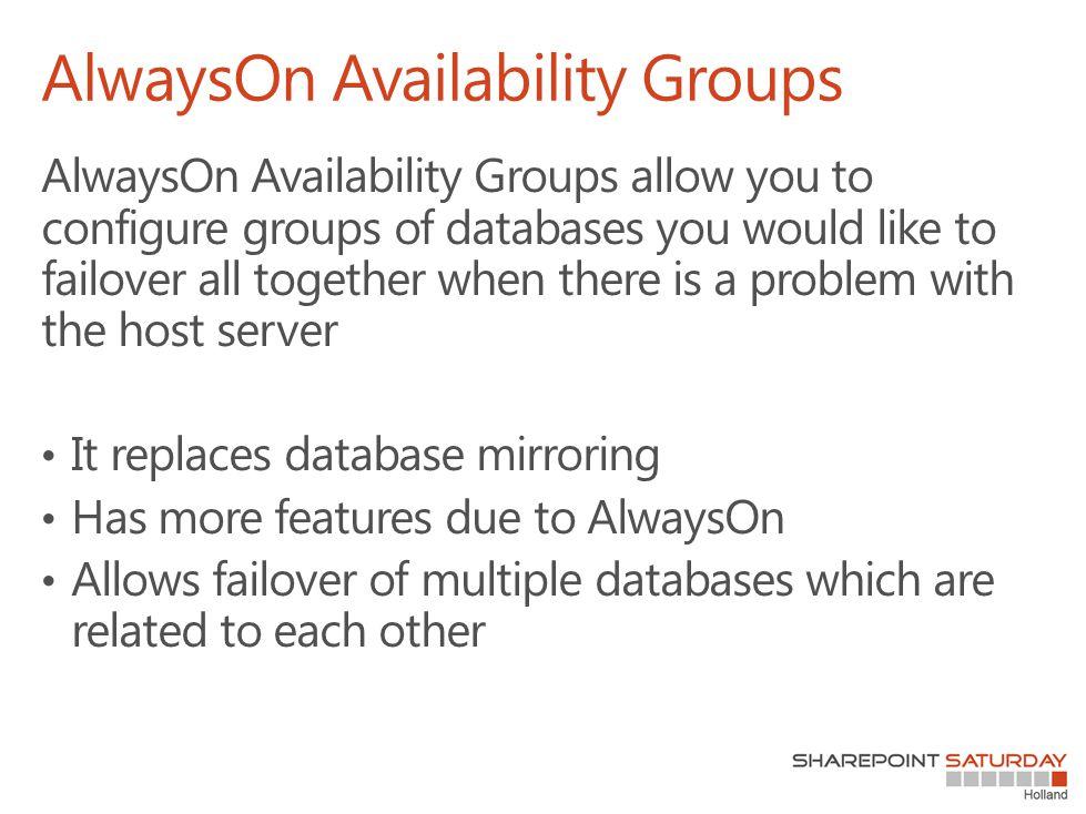 AlwaysOn Availability Groups