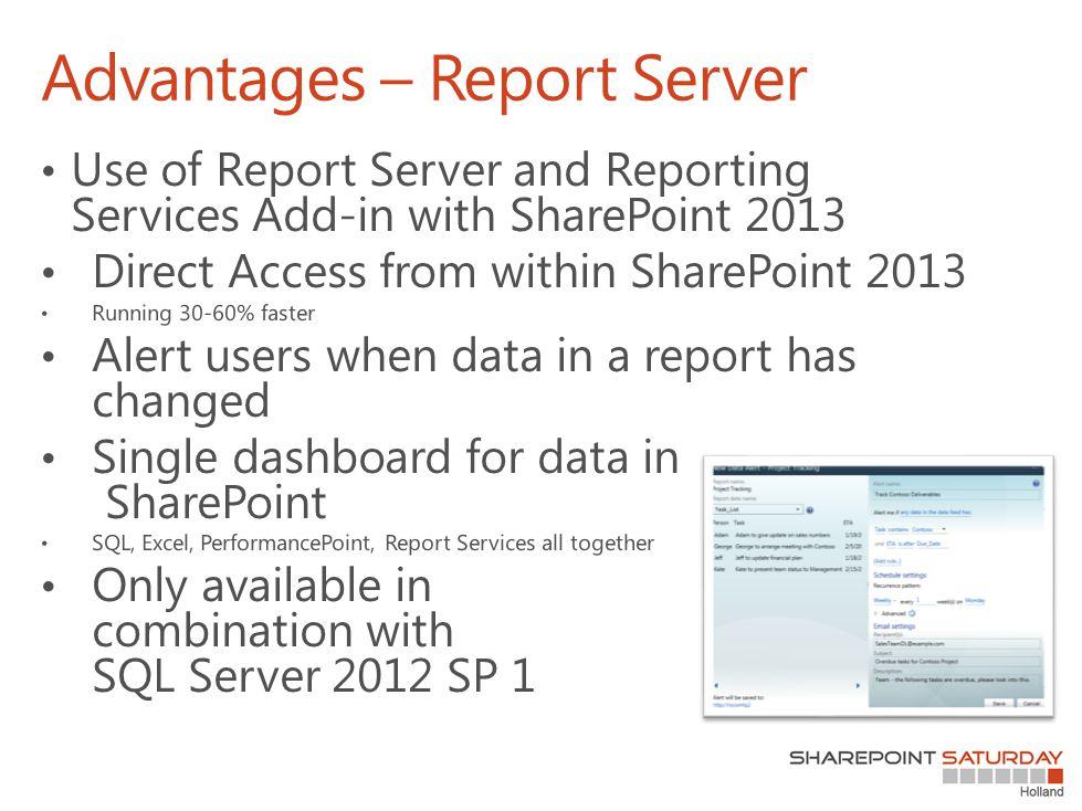 Advantages – Report Server