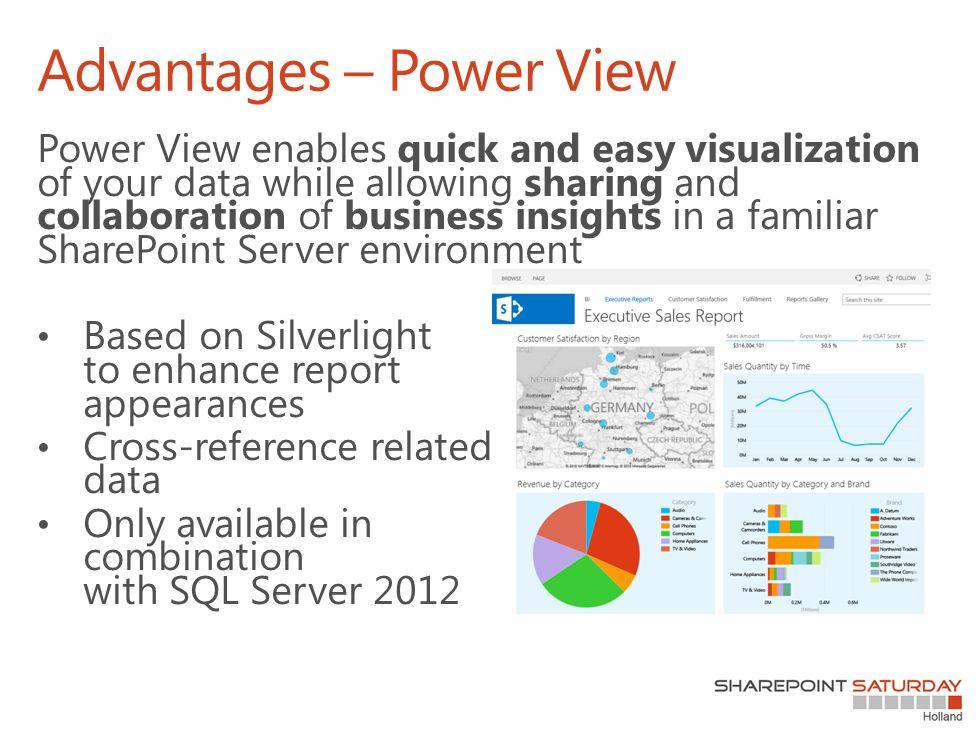 Advantages – Power View