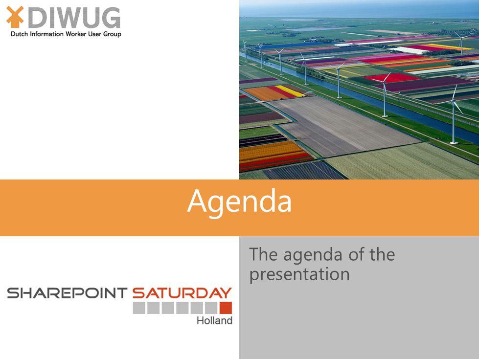 Agenda The agenda of the presentation