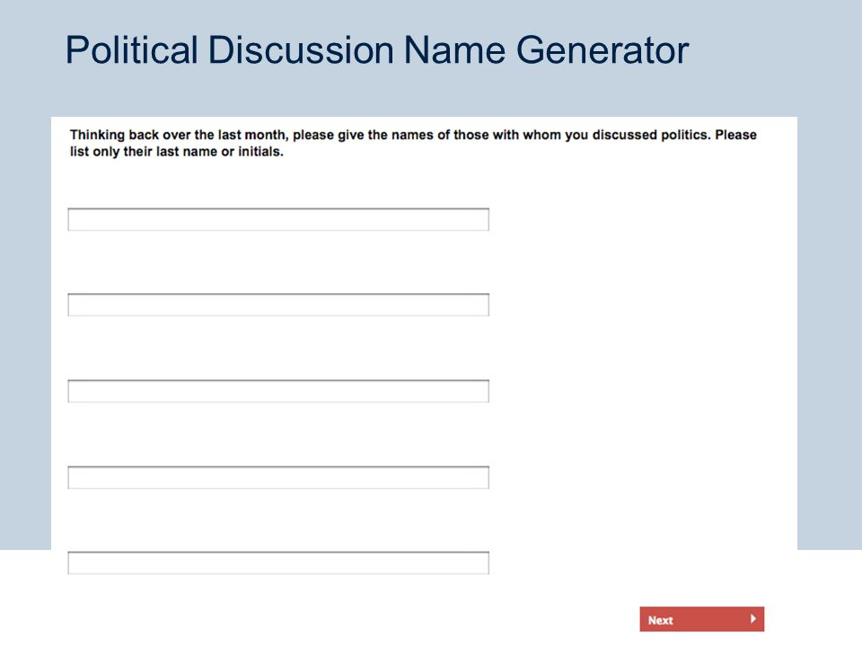 Political Discussion Name Generator