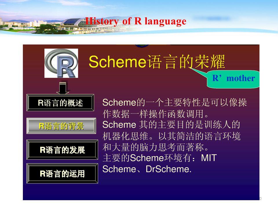 10 History of R language