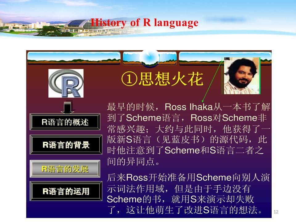 12 History of R language