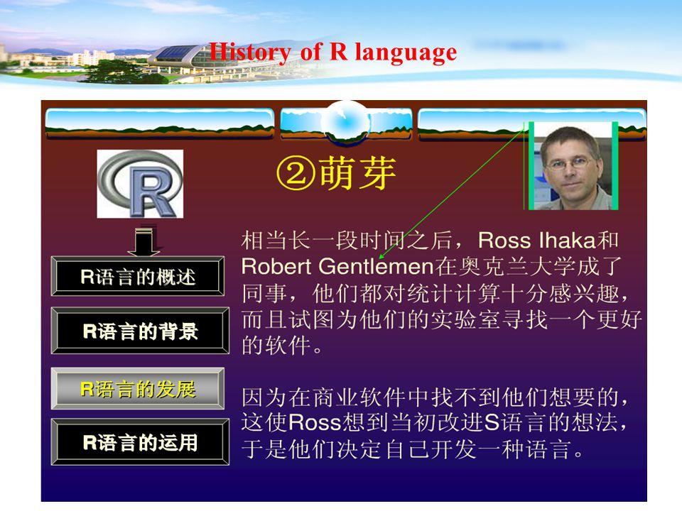 13 History of R language