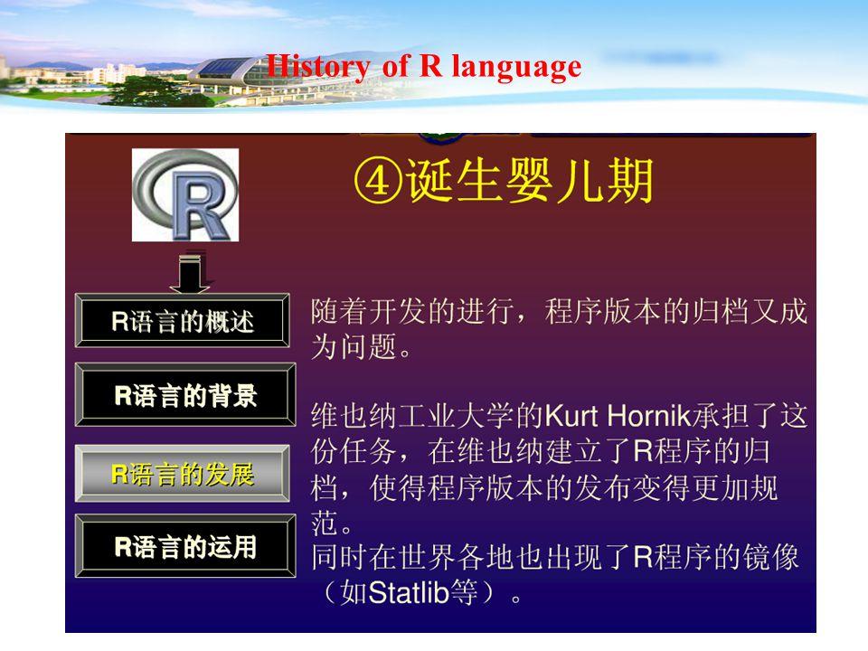 15 History of R language