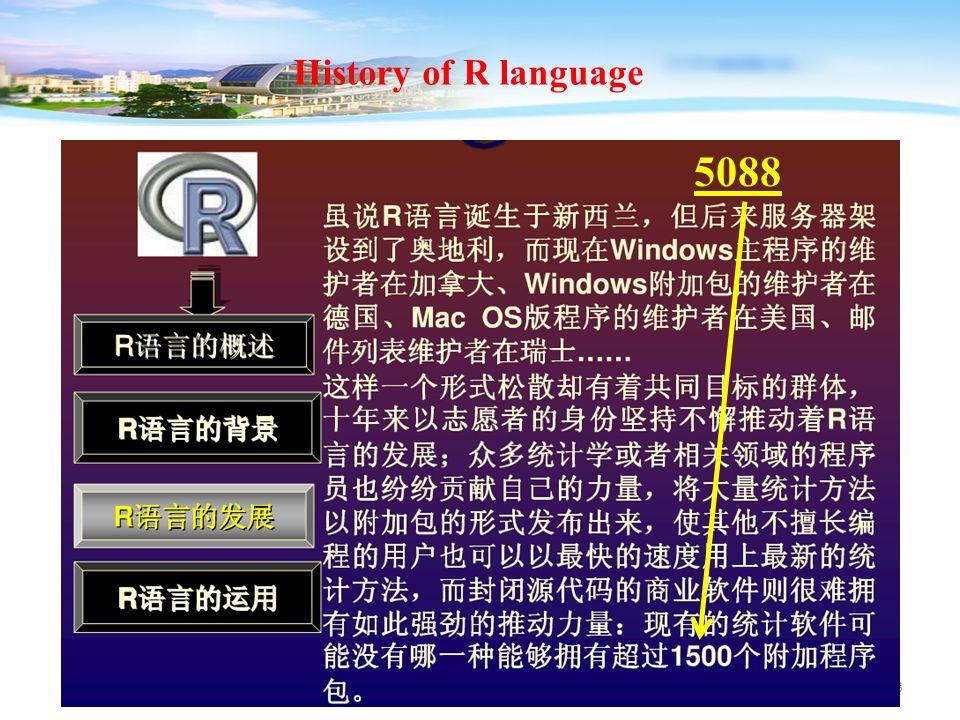 23 History of R language 5088