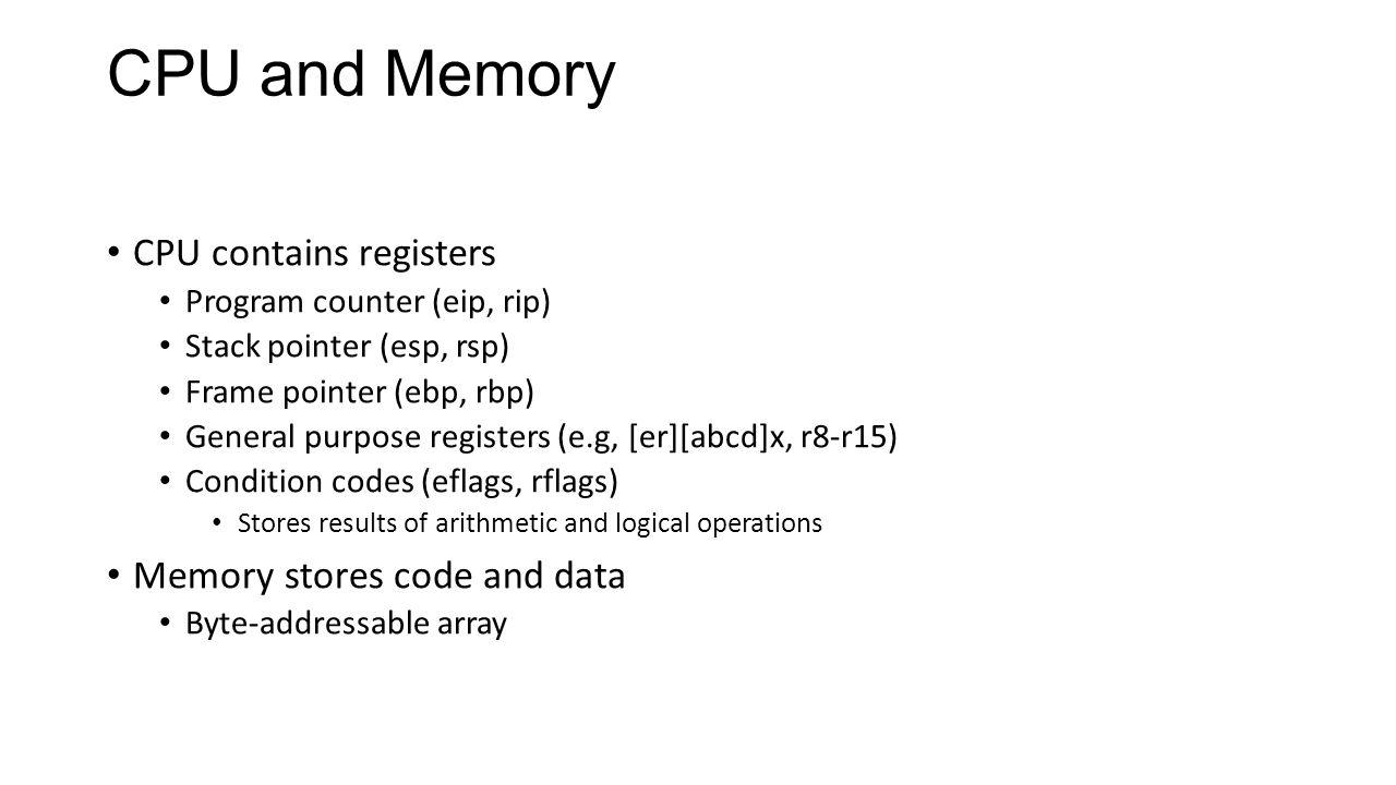 Vulnerable Program int main(int argc, char** argv) { char buf[256]; snprintf(buf, sizeof(buf), argv[1]); printf( buf = %s\n , buf); return 0; } >./vuln hello buf = hello >./vuln hello %x %x %x %x %x buf = hello ffffd7fc 3df6174 f7f35b46 100 80499d4