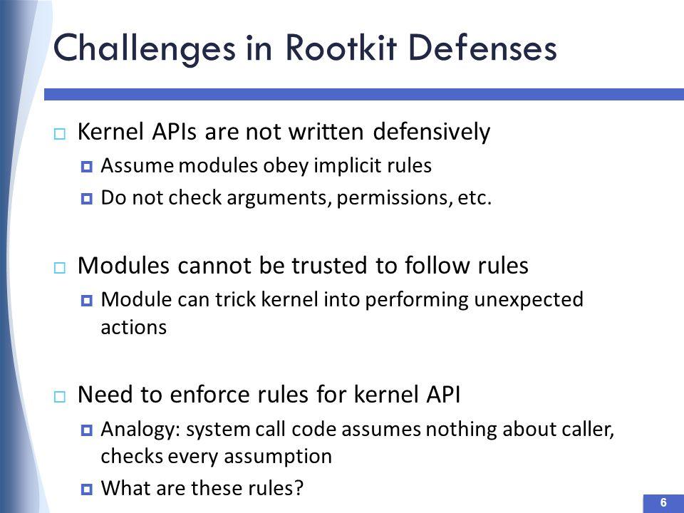 Vulnerabilities in Linux Kernel  Many exploits attack kernel modules  67% of Linux kernel vulnerabilities (CVE 2010) 27