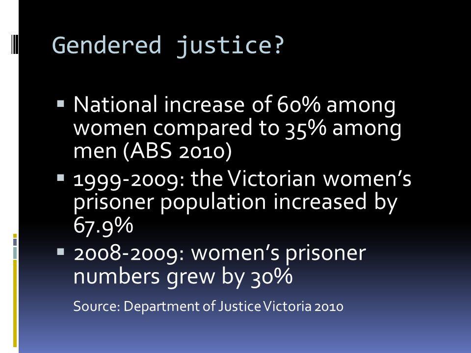 Gendered justice.