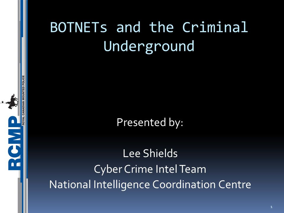 2 What is a BOTNET?