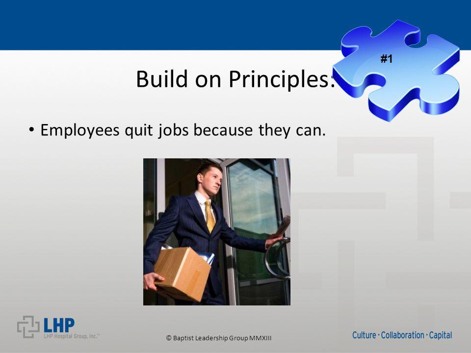 © Baptist Leadership Group MMXIII Coaching Under Achievers: Develop or Detach
