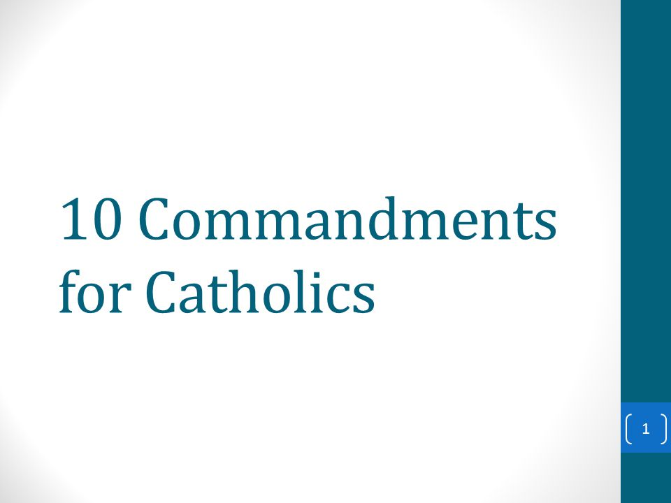 10 Commandments for Catholics 1