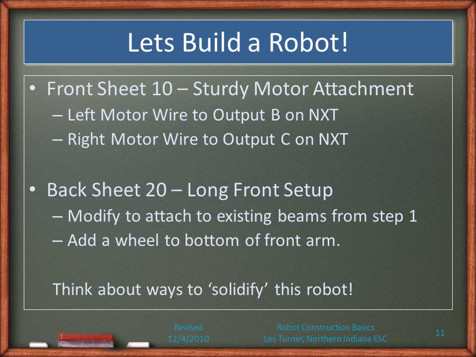 Lets Build a Robot.