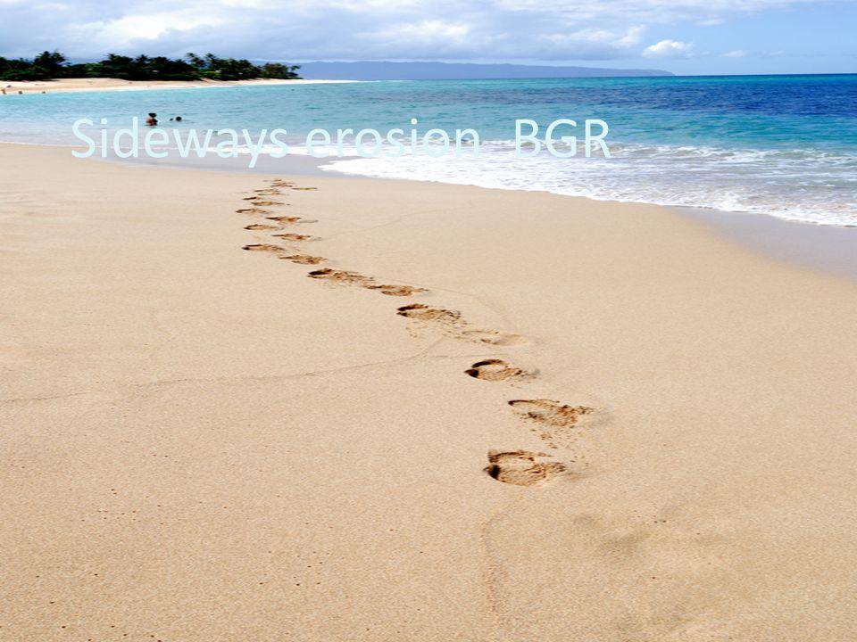Sideways erosion BGR