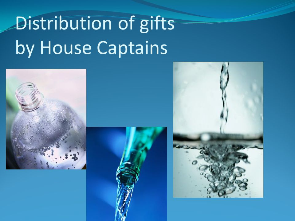 Distribution of gifts by House Captains