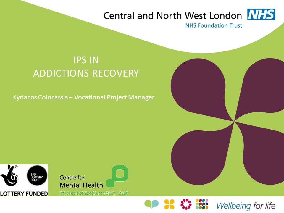 IPS IN ADDICTIONS RECOVERY Kyriacos Colocassis – Vocational Project Manager