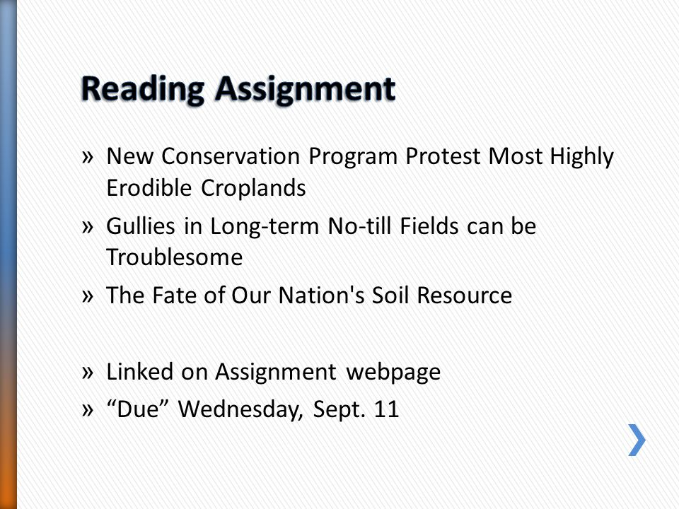» New Conservation Program Protest Most Highly Erodible Croplands » Gullies in Long-term No-till Fields can be Troublesome » The Fate of Our Nation's