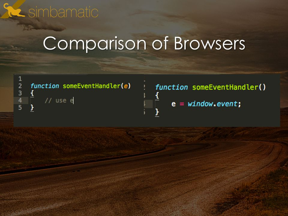 Comparison of Browsers