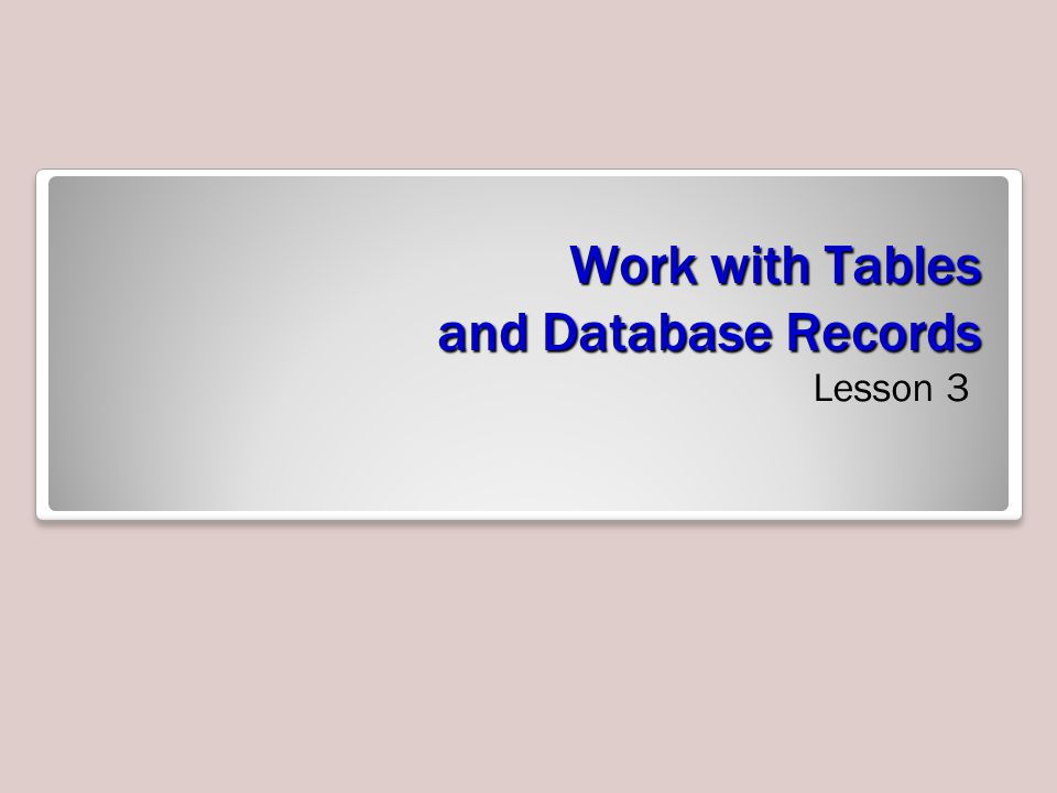 Step-by-Step: Define Table Relationships 5.Click the Customer ID field in the Customers table and drag it to the Customer ID field of the Order Summary table and release the mouse button.