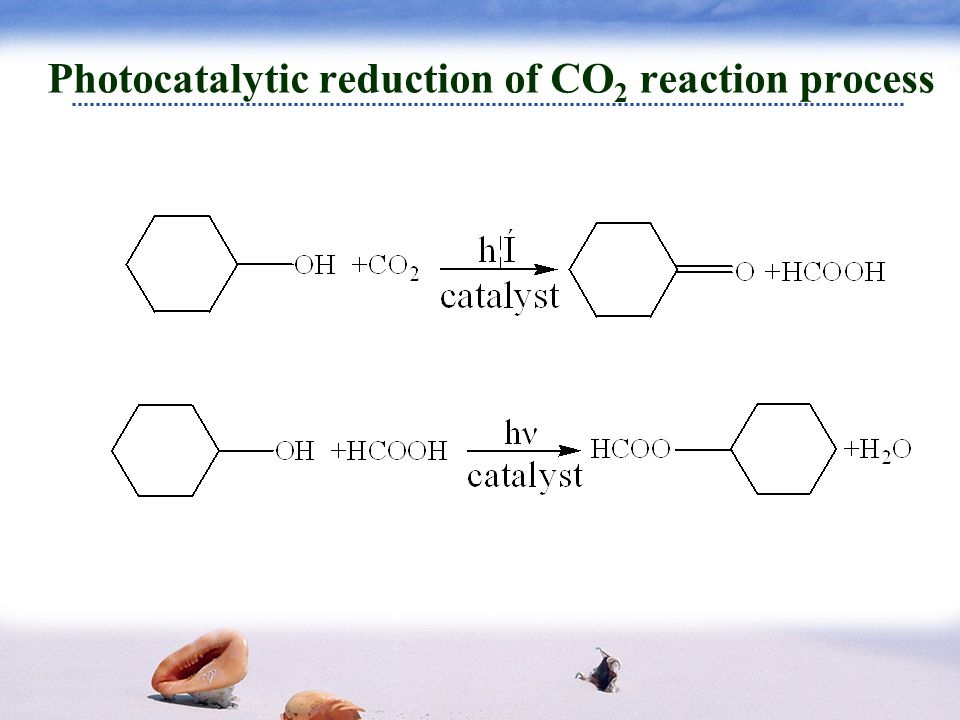Selected catalyst Oxidation process of cyclohexanol Reduction process of carbon dioxide
