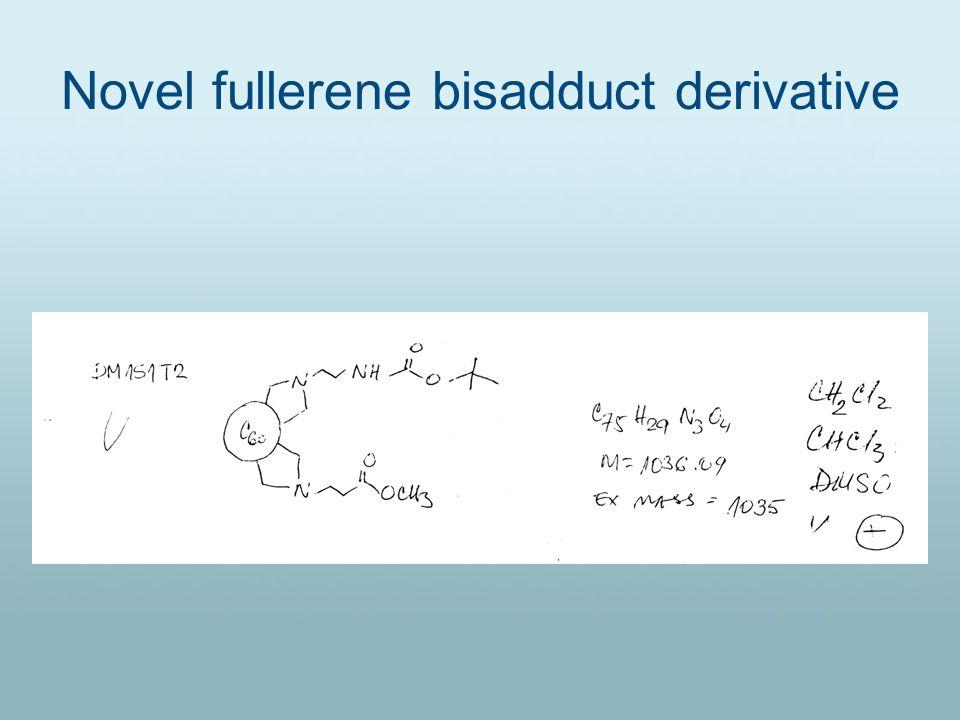 Novel fullerene bisadduct derivative