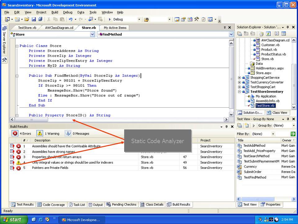 Static Code Analysis Static Code Analyzer