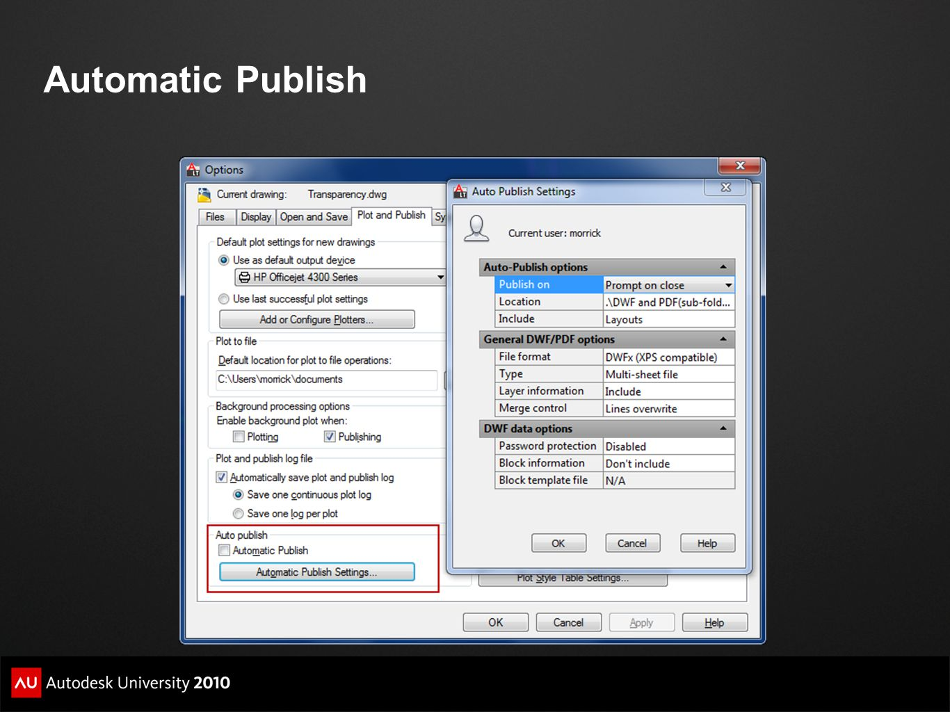 Automatic Publish