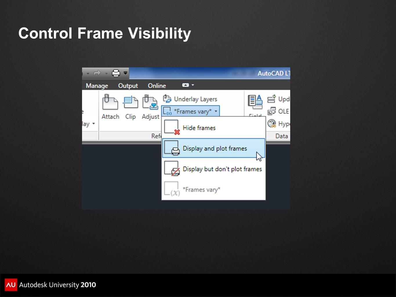 Control Frame Visibility