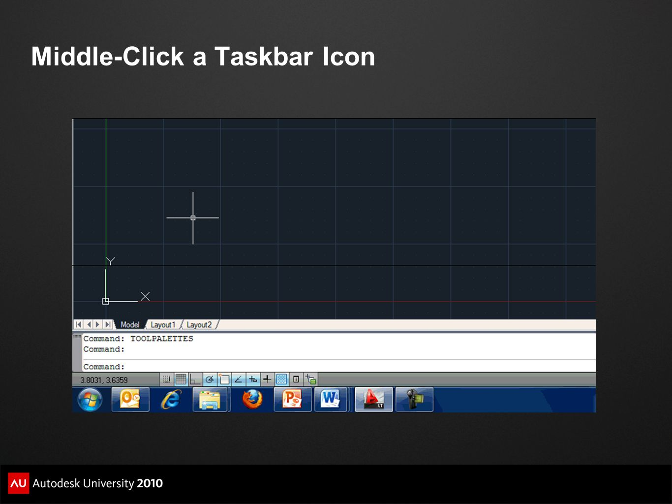 Middle-Click a Taskbar Icon