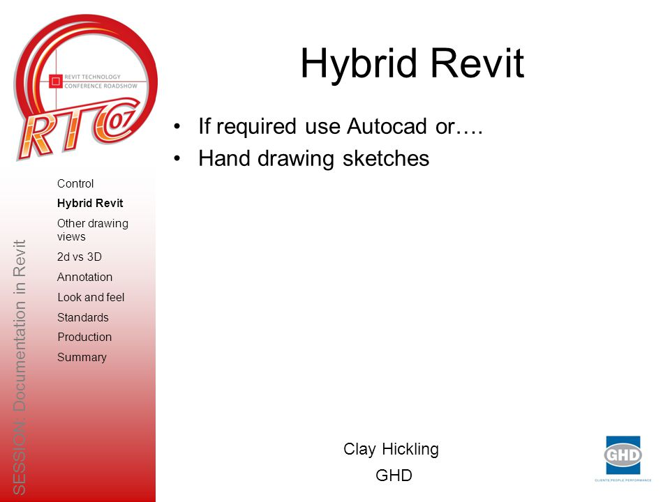 Hybrid Revit If required use Autocad or….