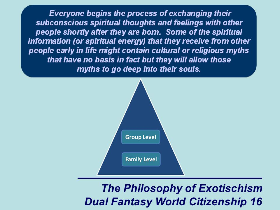 The Philosophy of Exotischism Dual Fantasy World Citizenship 16