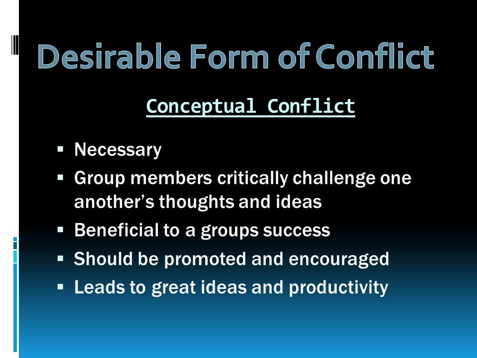  Conflicts and resolution (mutual respect)  Healthy conflict (conceptual)  Dangerous conflict  5 conflict styles/behaviours (animals)  Confronting: Best way of the owl to resolve disputes  Respect and Assertive communication  6 rules for managing conflicts effectively  Mediation Process