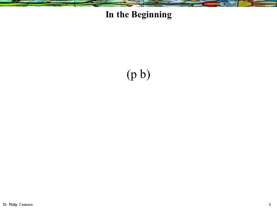 Dr. Philip Cannata 6 In the Beginning (p b)