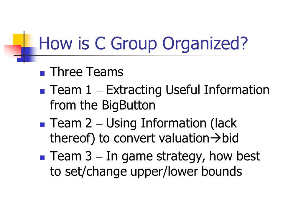 Team 1 – Extracting Info.