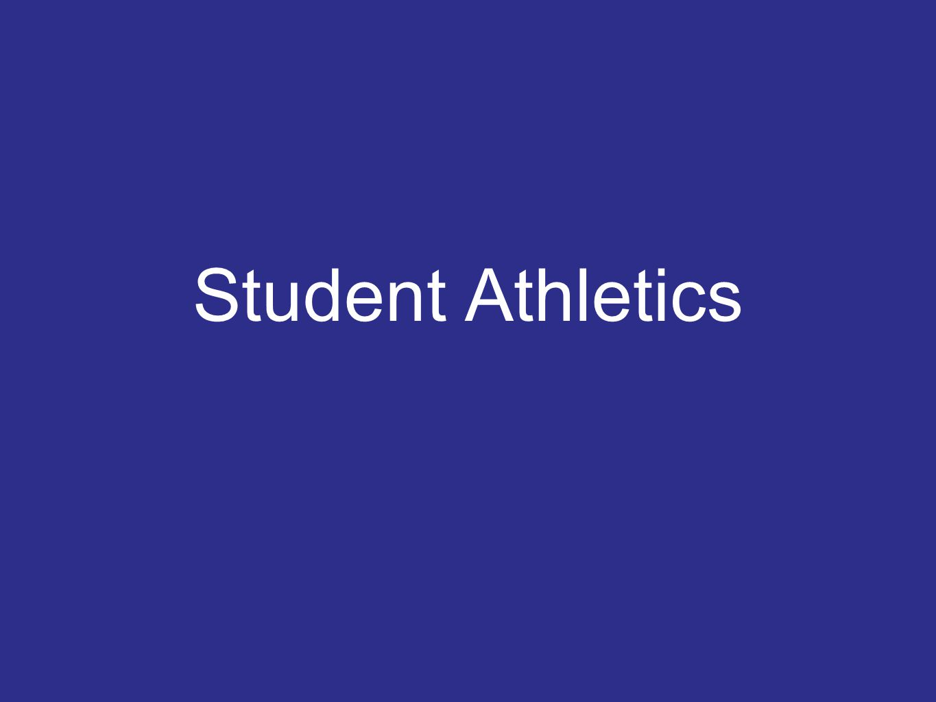 Student Athletics