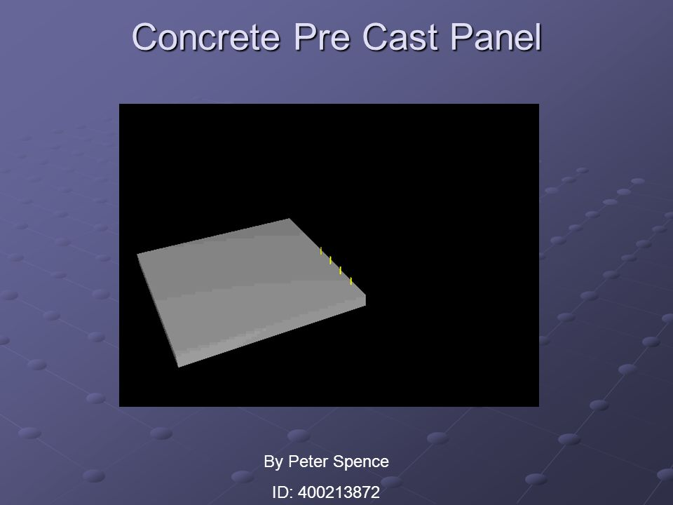Concrete Pre Cast Panel By Peter Spence ID: 400213872