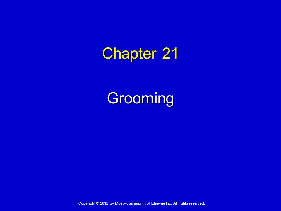 Grooming  Grooming measures:  Are important to many people  Prevent infection and promote comfort  Address love, belonging, and self-esteem needs  People differ in their grooming measures.