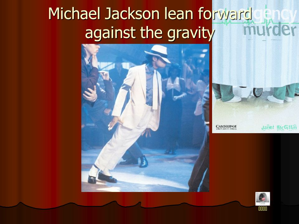Michael Jackson lean forward against the gravity home